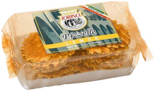 Torino Lemon Pizzelle, 5.3-Ounce Packages (Pack of 10)