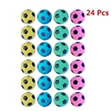 PetFavorites(TM) Foam/Sponge Soccer Ball Cat Toy Best Interactive Cat Toys Ever 2014 Most Popular Independent Pet Kitten Cat Exrecise Toy balls for Real Cats Kittens, Soft/Bouncy/Noise Free, 24 Pack.
