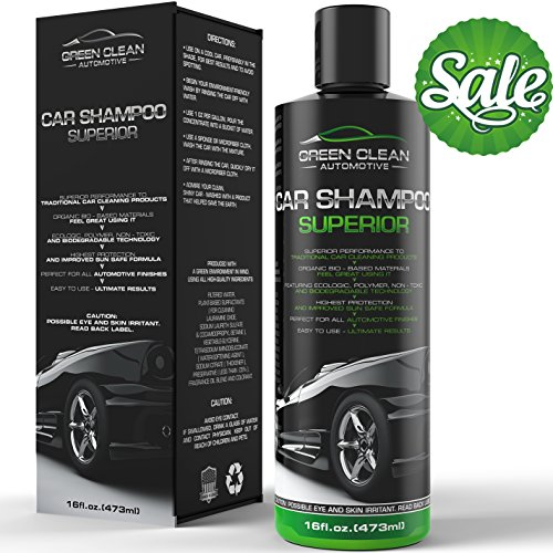 Green Clean Automotive - Car Shampoo Superior - Best Ecological Car Care Product - Powerful and Effective High Foaming Wash Soap for All Automotive Finishes - Spot-Free - Removes Dirt and Dust Effectively - Ultimate Shine - Highest Protection - 16 oz (Automotive Care compare prices)