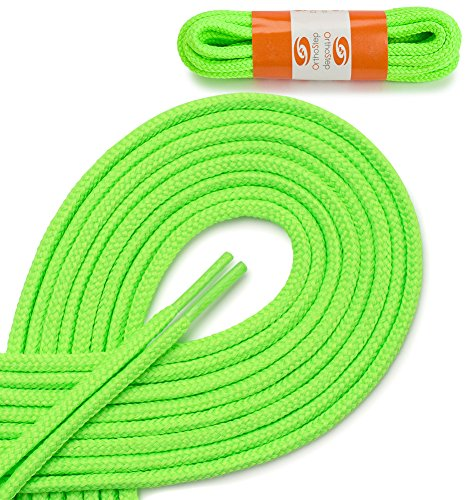 OrthoStep Round Athletic Neon Green 54 inch Shoelaces 2 Pair Pack (Neon Green Shoe Laces compare prices)