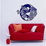 New Yin Yang Dragon vs Tiger Vinyl Sticker Wall Art