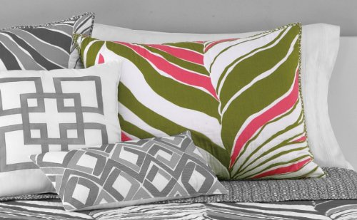 Trina Turk Tiger Leaf Standard Sham, 20 By 26-Inch, Pink/Green back-809303