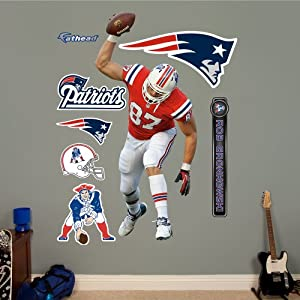 NFL New England Patriots Rob Gronkowski Spike Wall Graphics by Fathead
