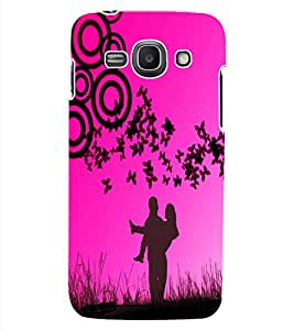 ColourCraft Love Couple Design Back Case Cover for SAMSUNG GALAXY ACE 3 3G S7270