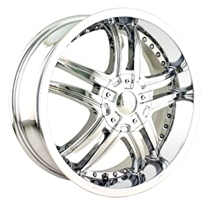 Mazzi Smoke 18×7.5 Chrome Wheel / Rim 5×100 & 5×4.5 with a 40mm Offset and a 72.62 Hub Bore. Partnumber 375-8703C