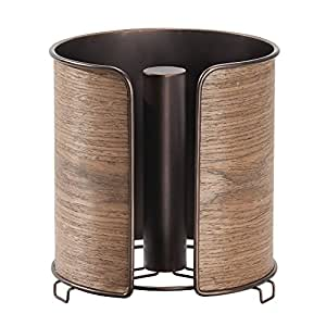 Amazon.com: InterDesign Realwood Paper Towel Holder for ...