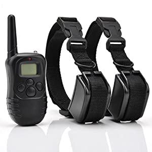 Hot Spot® Remote Control Dog Training Shock Collar for 2 Dogs with 100LV of Shock and Vibration, Rechargeable and Waterproof