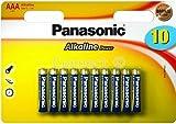 Panasonic AAA Alkaline Power Batteries (Panasonic batteries, Consumable) LR03 MN2400 R03P SUM4 LR3 HP16 AM4 4003 E92 824 K3A