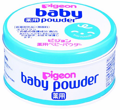 Pigeon Medical Use Baby Powder Blue Can front-872690
