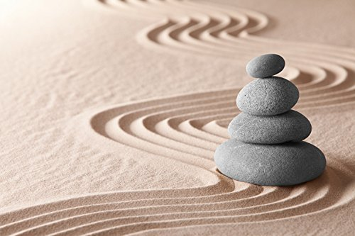 """Papillon """"Stones on Sand"""", tappetino da bagno super assorbente, in poliestere, motivo: pietre sulla sabbia, multicolore, 60 x 40 cm"""