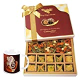 Baklava & Cocktail Dry Fruit Box With Diwali Special Coffee Mug - Diwali Gifts - Diwali Gifts