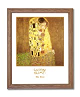 Gustav Klimt The Kiss Home Decor Wall Picture Oak Framed Art Print