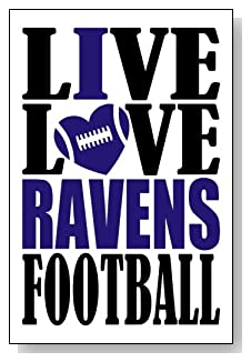 Live Love I Heart Ravens Football lined journal - any occasion gift idea for Baltimore Ravens fans from WriteDrawDesign.com