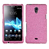 Pink Diamante Phone Case | Asmyna Premium Dazzling Diamante Diamond Case for Sony Ericsson Xperia TL TL30AT thumbnail