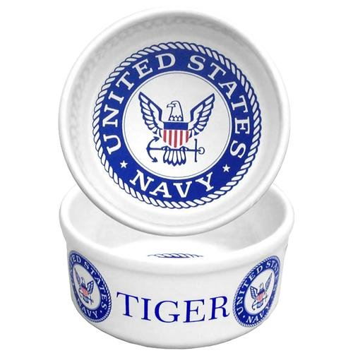 Personalized Pet Bowl - Navy