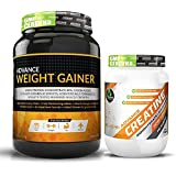 Advance Weight Gainer 1Kg Banana + Advance Creatine Unflavoured 300g