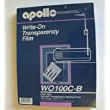 Apollo Write-On Transparency Film 100 Sheets 8 X11 Use With Transparency Marking Pens