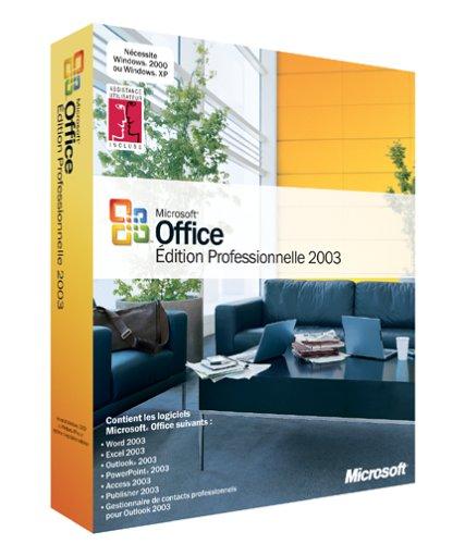 Microsoft Office Professional Edition 2003 - Ensemble De Mise À Niveau De Version - 1 Utilisateur - Cd - Win - Françai
