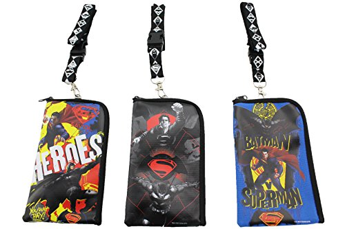 Finex® *Set of 3* Batman vs Superman Heroes Lanyard ID Holder (Ironman Action Figures 3 Inches compare prices)
