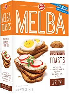 Old London Melba Toast, Salt Free, Whole Grain, 5-Ounce Boxes (Pack of 12)