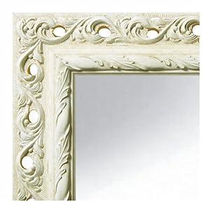 Spiegel emilia elfenbein 60x120 cm komplett mit for Spiegel 60x120