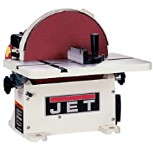 JET 708433 JDS-12B 1-Horsepower 12-Inch Benchtop Disc Sander with Circle Jig and Miter Gauge, 115/230-Volt 1-Phase