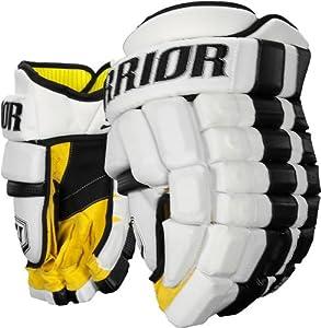 Warrior Senior Bonafide Hockey Glove, White Black, 15-Inch by Warrior