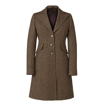 Magee Women's Herringbone Tweed Jacket Brown 10