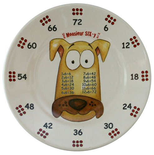 The Multiples Times Table Dinnerware Monsieur Six-y 6.5 inch Melamine Plate