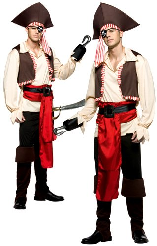 Jolly Roger Mens Halloween Pirate Costume