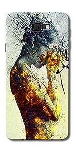 DigiPrints Designer Back Cover for Samsung Galaxy J7 Prime-Multicolor