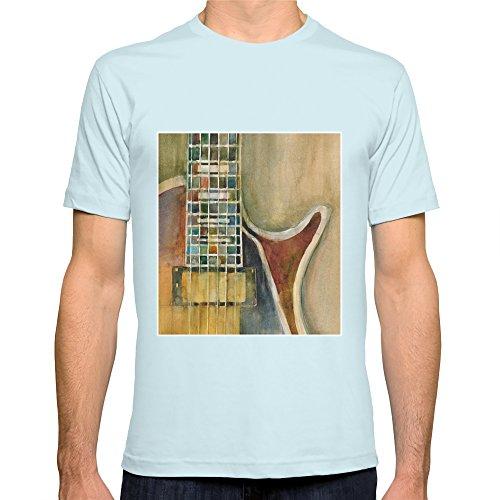 Society6 Men'S Gibson Electric Guitar T-Shirt 2X-Large Light Blue