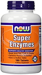 NOW Foods Super Enzymes, 180 Tablets (180 Tabs X 2)