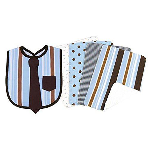 Blue And Brown Polka Dot Baby Bedding