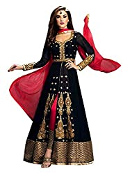 Snapyshopy Black Colored Designer Anarkali Suit