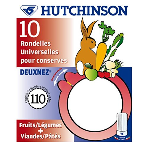 HUTCHINSON - Joints à Bocaux( X 10) 110 X 82mm 2 nez Universel*