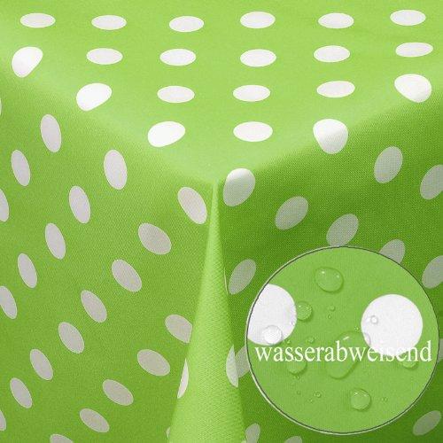 Garten-Tischdecke-mit-Fleckschutz-im-Punkte-Muster-Lotuseffekt