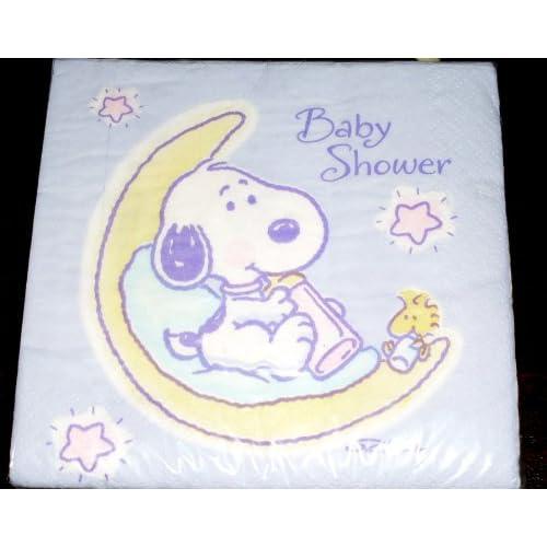rare hallmark baby snoopy baby shower napkins oop