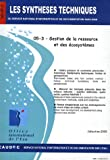 Gestion de la ressource et des cosystmes