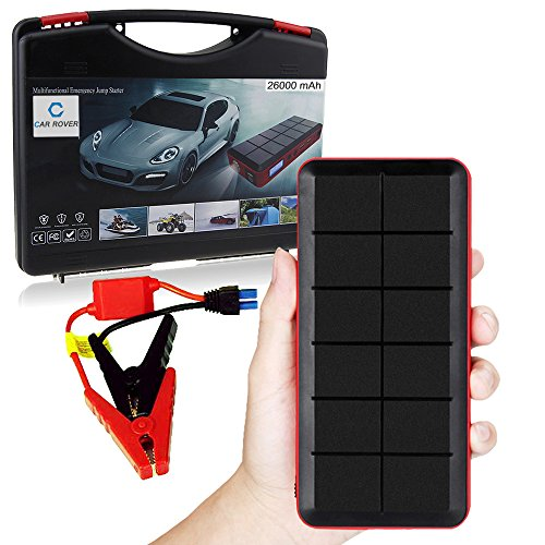 CAR-ROVER-Jump-Starter-26000mAh-450A-Avviatore-di-Emergenza-per-Auto-Caricabatterie-Portatile-Batteria-Esterna-Power-Bank-con-Torcia-LED-per-Laptops-iPhone-iPad-Samsung-e-Altri-Smartphones-Tablets