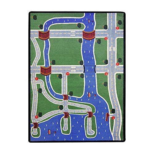 "Joy Carpets Kid Essentials Active Play & Juvenile Creataville Rug, Multicolored, 7'8"" x 10'9"""