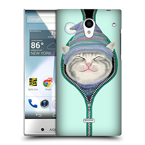 Official Tummeow Zip Cats 2 Hard Back Case for Sharp Aquos Crystal 305SH (Sharp Aquos Phone Case Cat compare prices)