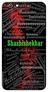Shashishekhar (One With Moon At The Top Of Head - Lord Shiva) Name & Sign Printed All over customize & Personalized!! Protective back cover for your Smart Phone : Moto G-4-PLAY