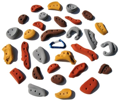 30 Pack Screw-Ons l Climbing Holds l Mixed Earth Tones