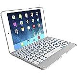 ZAGG Cover for iPad mini & iPad mini Retina , Hinged with Blacklit Keyboard - White