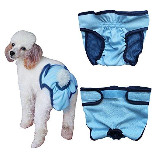 Bild von: YiZYiF Hundeschutzhosen für Hunde Hündinnen Läufigkeit Unterhose Unterwäsche Hundehöschen XS-XL Blau M