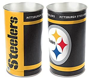 Pittsburgh Steelers 15'' Waste Basket from Hall of Fame Memorabilia