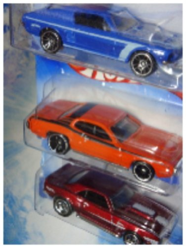 Hot Wheels Detailed Diecast Ford Mustang - Plymouth Gtx Chevy Camaro 5 Spoke Scale 1:64