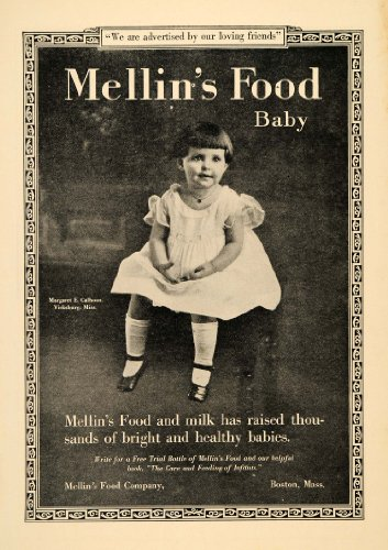 1922 Ad Mellin'S Baby Food Margaret E Calhoun Vicksburg - Original Print Ad front-1065932