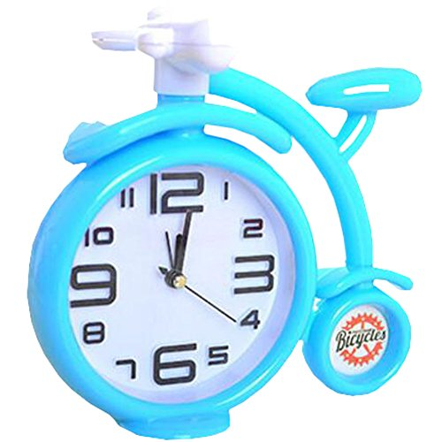 Retro Creative Bicycle Noiseless Alarm Clock Kids' Birthday Gift Blue
